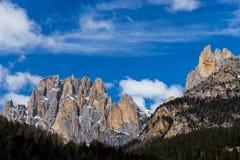 Mountains in the Valley di Fassa near Pozza di Fassa Trentino It Stock Image