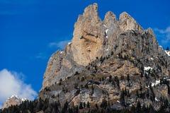 Mountains in the Valley di Fassa near Pozza di Fassa Trentino It Stock Photos