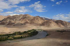 Mountains and valley in Ladakh, India Stock Photography