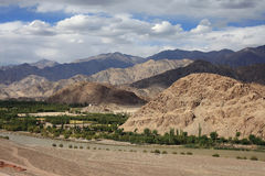 Mountains and valley in Ladakh, India Royalty Free Stock Photos