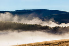 Mountains Valley Mist Forests Stock Photography