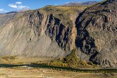 Mountains valley river autumn Stock Photos