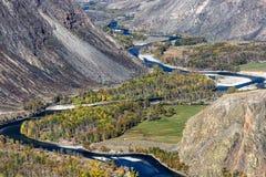 Mountains valley river autumn Royalty Free Stock Photo
