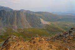 Mountains valley rocks top view Stock Photo
