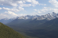 Mountains and Valley. Mountains and tree covered valley in Canada's Banff National Park Royalty Free Stock Image
