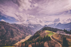 Mountains and valleys Stock Images