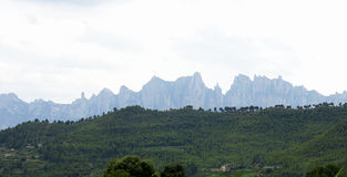 Mountains and valleys Stock Photos