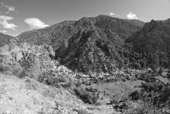 Mountains and Valleys of Corsica Royalty Free Stock Photo