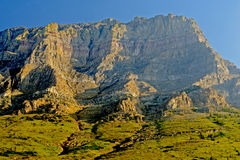 Mountains and valleys in Glacier National Park. Stock Photography