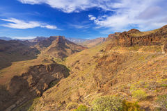 Mountains and valleys of Gran Canaria island Royalty Free Stock Photo