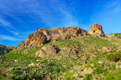 Mountains and valleys of Gran Canaria island Stock Image