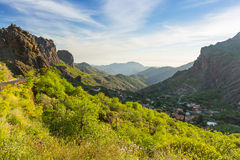 Mountains and valleys of Gran Canaria island Stock Images