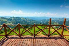 Mountains landscape with viewpoint in Serbia Stock Images