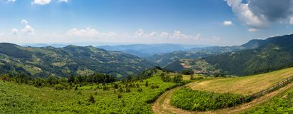 Mountains panorama landscape in Serbia Royalty Free Stock Photography