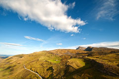 Mountains, valleys and pastures seen from above Royalty Free Stock Images