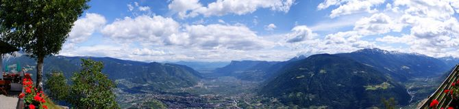 Mountains and valleys in South Tyrol Royalty Free Stock Photography