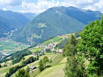 Mountains and valleys in Southtyrol Stock Photos