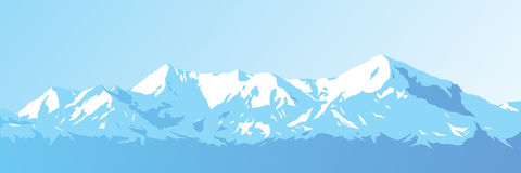 Mountains vector. Mountains against the blue sky Royalty Free Stock Image
