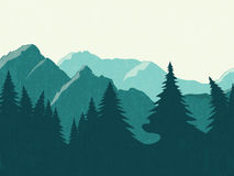 Mountains vector landscape Royalty Free Stock Photography