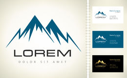 Mountains vector logo Royalty Free Stock Images