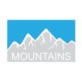 Mountains, vector logo Stock Photos
