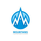 Mountains - vector logo template concept illustration. Expedition mountaineering sign. Tourism symbol. Design element Royalty Free Stock Photo