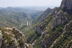 Mountains in the vicinity of Barcelona Royalty Free Stock Image
