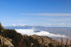 Mountains View from the Aerial Tramway. San Jacinto State Park, Palm Springs, California, USA Royalty Free Stock Photos