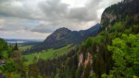 Landscape in Bayern. Mountains view in Bayern stock images