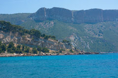 Mountains. View on the Calanques of Cassis, France Royalty Free Stock Photo