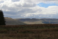 Mountains. View of campsite hills near fintry Stock Photography