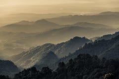 Mountains. View from Doi Ang Khang,Chiang Mai ,Thailand Stock Image