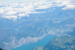 Mountains  view from  flying airplane Stock Photography