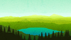 Mountains view 08 royalty free illustration