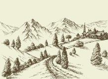 Mountains view Royalty Free Stock Photo