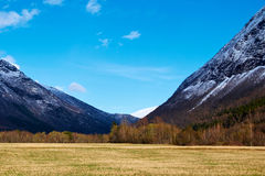 Mountains view  in norway Stock Photos