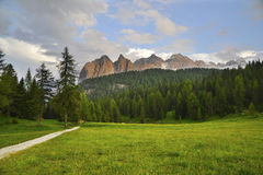 Mountains view with path Stock Images