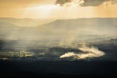 Mountains view. Phuhinrongkla National Park, Phitsanulok, Thailand Royalty Free Stock Images