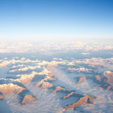 Mountains view from plane Royalty Free Stock Photos