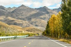 Mountains view with the road Stock Image