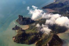 Mountains. View between samui phuket Stock Image