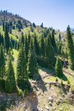 Mountains view. At summer near Almaty, Kazakhstan Stock Photo