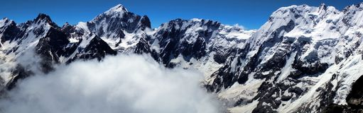 Mountains. View from the summit of Brno Peak (4110 m). royalty free stock photo