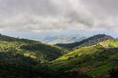 Mountains view. Thabberk Hill at Phetchabun, Thailand Stock Image
