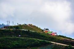 Mountains view. Thabberk Hill at Phetchabun, Thailand Royalty Free Stock Image