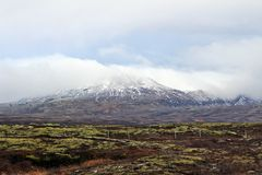 Mountains view. From Thingvellir National Park, Iceland Stock Photography