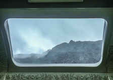 Mountains View from Train Window Royalty Free Stock Photography