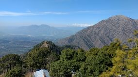 Mountains view at Vaishno devi temple. Vaishno Devi Mandir is a Hindu temple dedicated to the Hindu Goddess, located in Katra at the Trikuta Mountains within the royalty free stock images