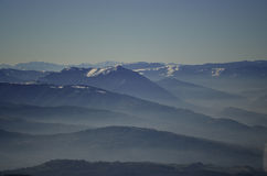 Mountains. This is the view that you can admire from the top of the Nevegal Royalty Free Stock Photo
