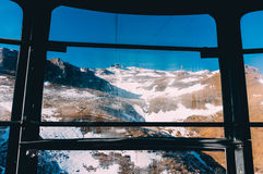 Mountains viewed from a cable car Stock Image